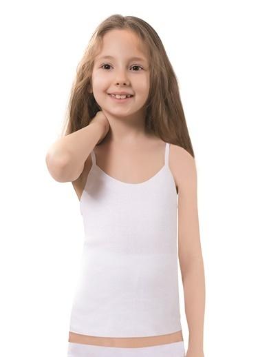 Luxxa Kız Çocuk Tekli Atlet Beyaz